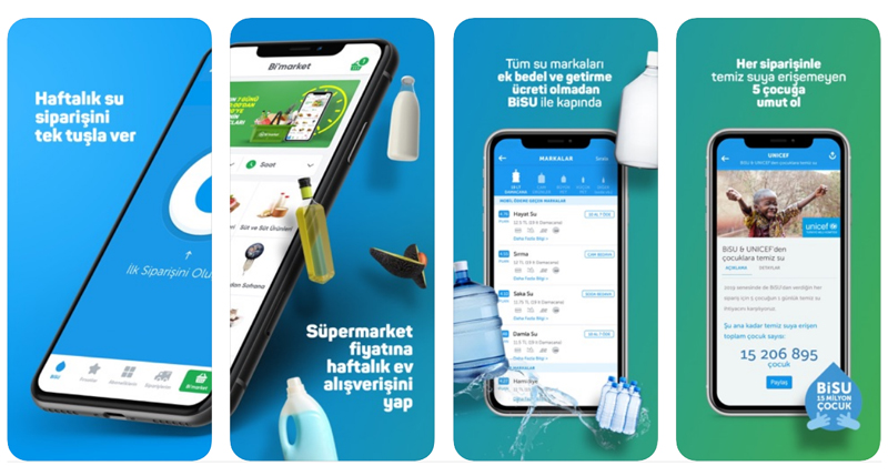 BiSU، اپلیکیشن سفارش آب در ترکیه