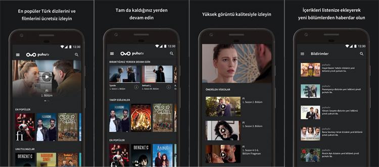 تماشای فیلم ها و سریال های ترکی با اپلیکیشن Puhutv